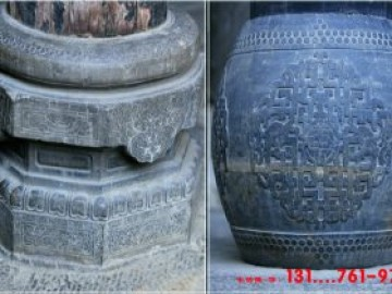 圆形柱础石磉盘好看的样式和寓意-以王家大院石柱礅为例子