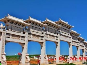 大型农村牌坊的设计制作六大原则-以陕西宝鸡石牌坊为例子