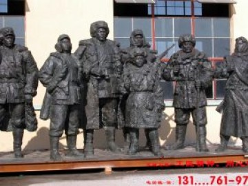 陵园红色革命雕塑人物设计制作