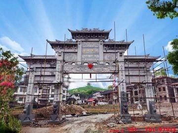 湖南安化农村牌坊门楼制作案例