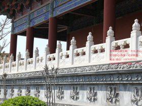 六个古建筑寺院石材栏板图片样式