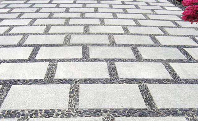 公园园林青石板石材地面铺装风格简介