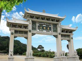 寺院石头山门石牌坊雕刻图片样式和建造