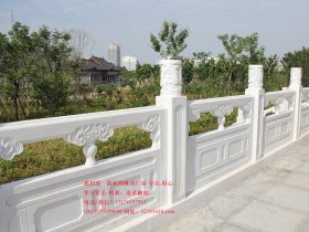 十个好看的汉白玉石栏杆-大理石护栏-雪花白石栏板图片大全