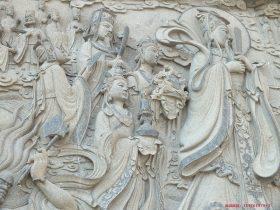 照壁浮雕佛教护法神_北京大觉寺二十诸天帝释_梵天图