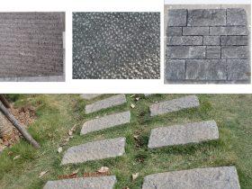 天然园林古建筑石材厂家-火烧面荔枝面青石板路面的设计意境