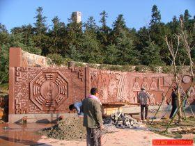 传统道教石雕壁画设计-神话浮雕壁画创作