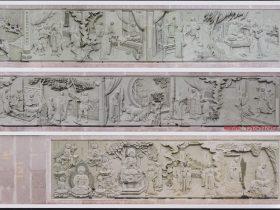 寺院石雕壁画布局和佛像弥勒佛浮雕图片大全
