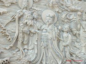 """北京法海寺墙堵""""二十诸天""""浮雕壁画和四大天王石雕壁画图片样式"""