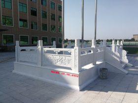 河道护栏图片和旗杆台汉白玉栏杆一米多少钱