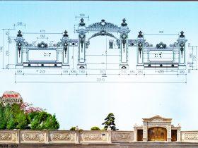 现代村口石门楼风格追求和仿古门楼村门价格和图片大全