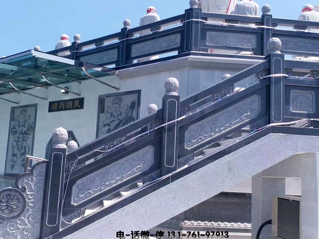 寺院大雄寶殿青石欄桿