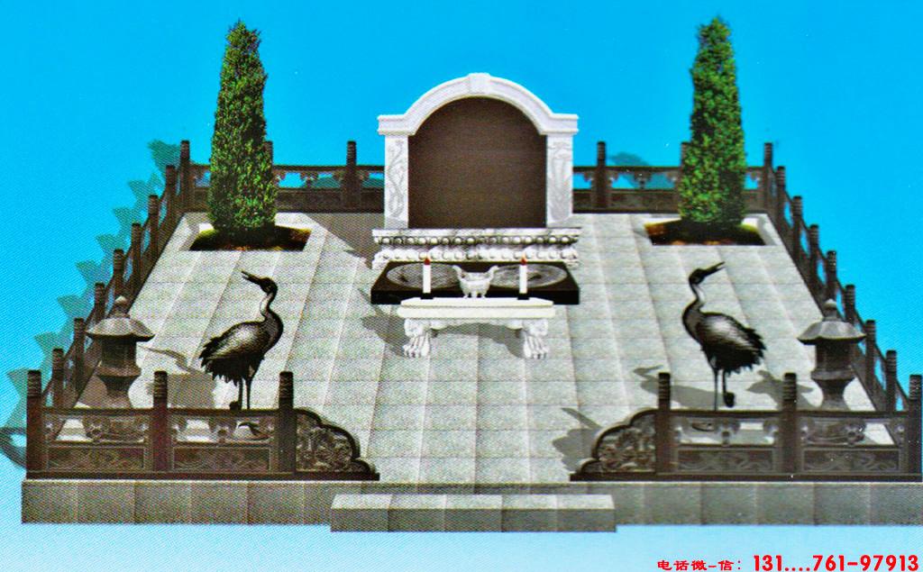 坟墓墓碑图