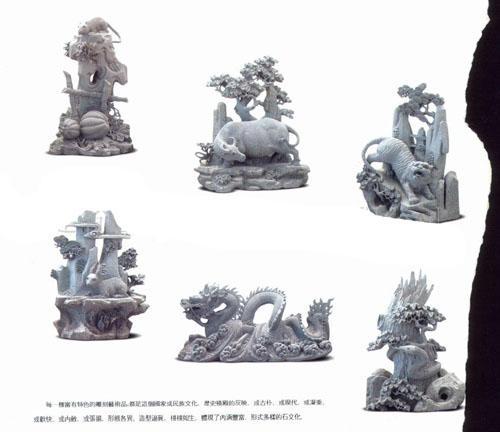 十二生肖雕刻、石雕十二生肖