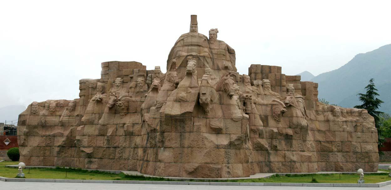 石雕秦统一大型雕塑