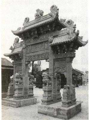 古代石雕牌坊的样式