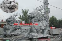 石雕麒麟安装地点;湖北黄冈钢构工程有限公司