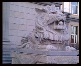 嘉祥雕刻精品雄狮和港币狮