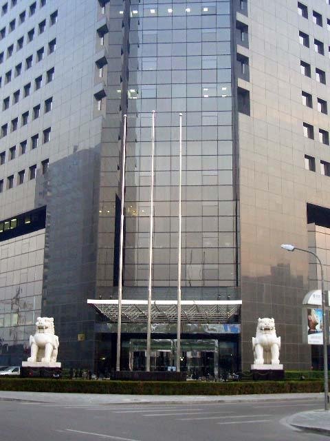 中国银行石雕貔貅整体效果