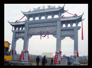 我厂制作的江西都昌县的石雕牌坊