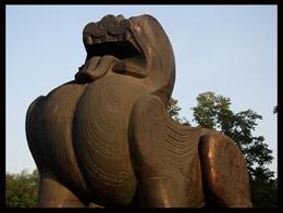 汉唐风格的石雕貔貅辟邪雕刻