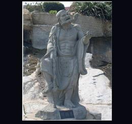 道教八仙石雕像