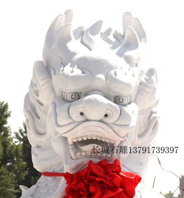 汉白玉麒麟雕刻