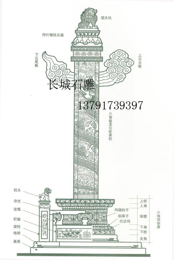 華表、石雕文化柱