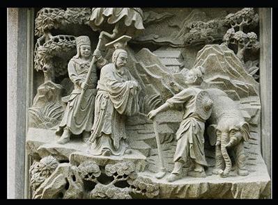 普陀山浮雕二十四孝雕刻