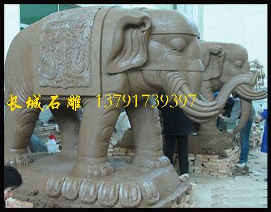 石雕大象寺院雕刻