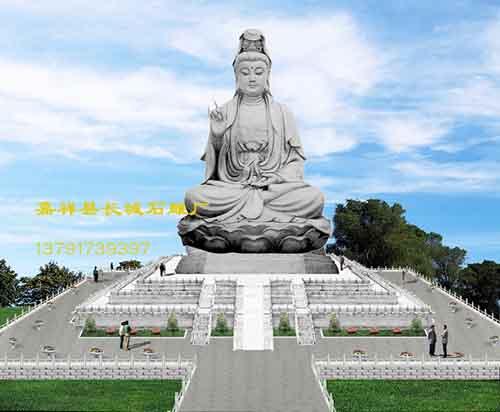 寺院观音菩萨雕刻寺庙佛像雕塑