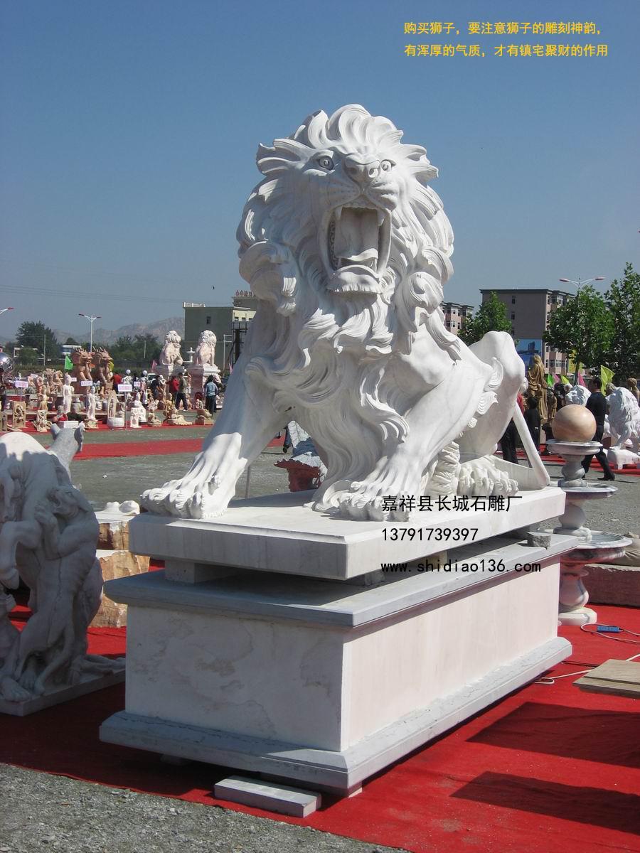 我厂雕刻的欧洲风格的石狮子