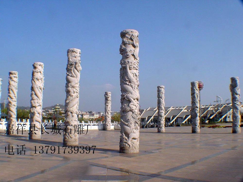 景德镇广场石雕龙柱