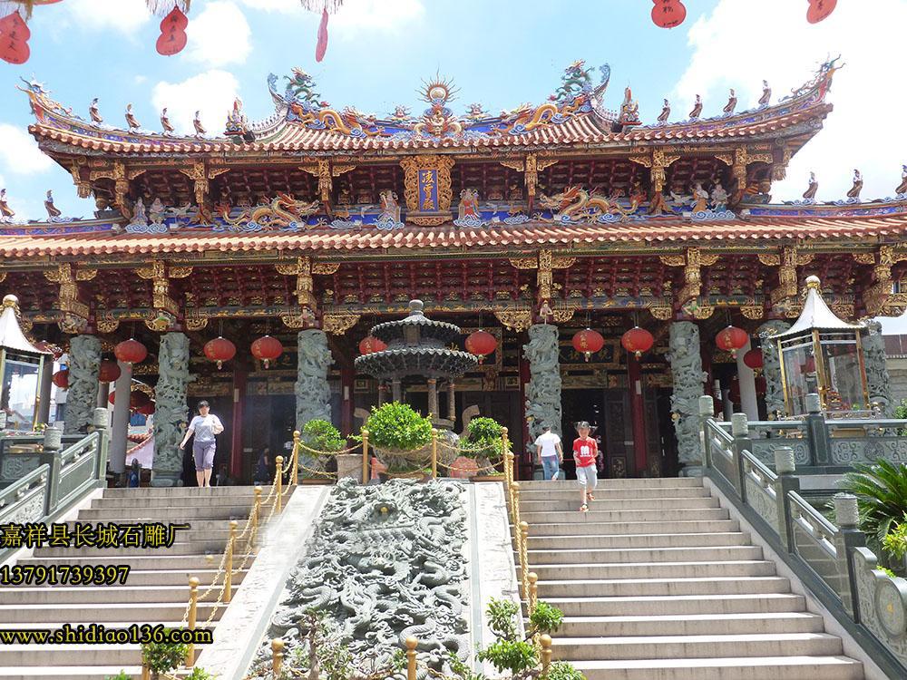寺院石雕龙柱栏板的用途