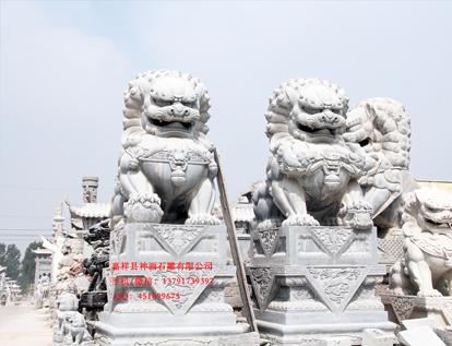 北京的石狮子-威武精美