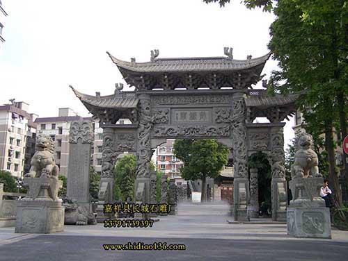 石牌坊的结构与构造与保存寿命