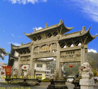 石牌坊牌楼-寺院景区石雕的价格施工要点