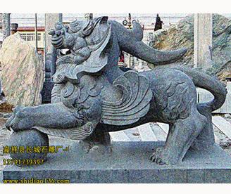 石雕貔貅-夏商周时期的浑厚雕刻风格