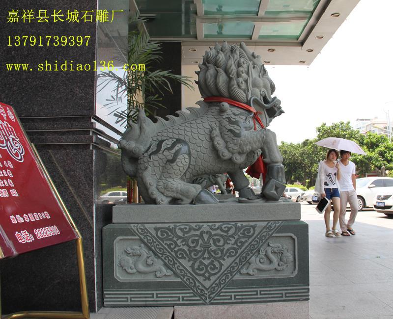 马头青石雕麒麟