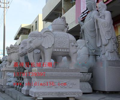 石雕大象的吉祥寓意与风水作用