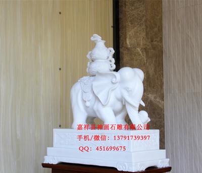 石雕大象成为家庭工厂寺院吉祥用品