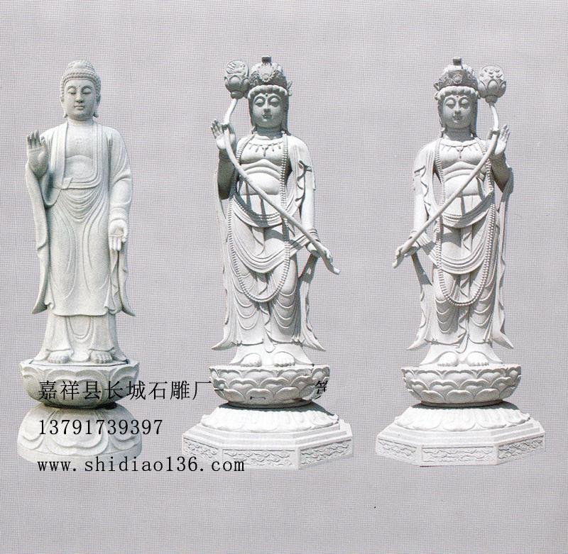 石雕佛像-日光菩萨-月光菩萨的雕刻造型