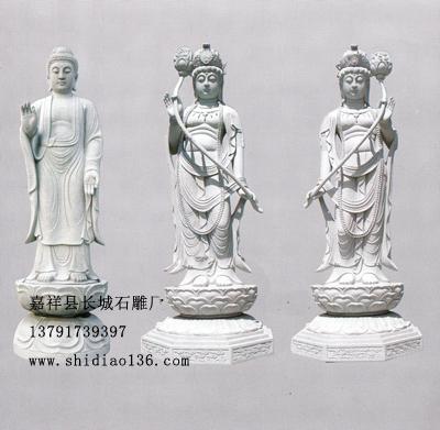 石雕佛像-日光菩萨-月光菩萨