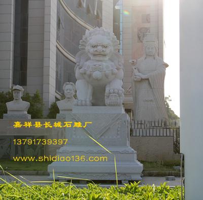 石狮子-花岗岩石雕狮子在古代的吉祥寓意