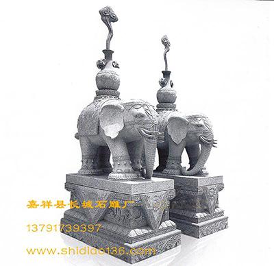 石雕大象-象的吉祥寓意
