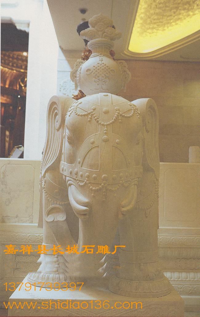 汉白玉大象雕刻-大象的吉祥寓意,大象的风水作用。