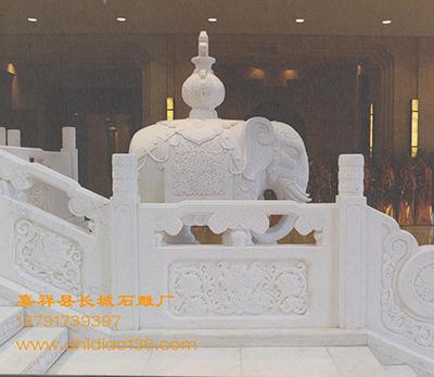 象的吉祥寓意-汉白玉大象雕刻