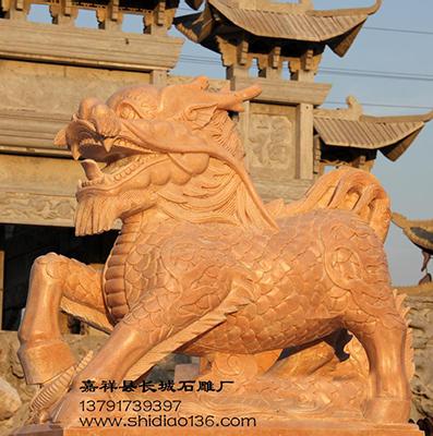 麒麟石雕-石麒麟雕刻是人们心目中的仁兽圣兽