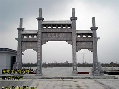 徽州牌坊的独特雕刻艺术-石牌楼的设计赏析