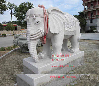 石雕大象吉祥寓意和佛教大象雕刻